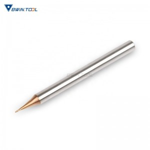 factories price Hot sale R0.3x50L-2F HRC60 Narrow path micro Ball Nose End Mill for CNC processing