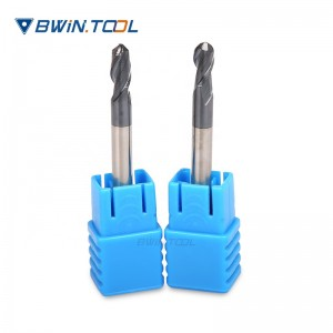 Chinese Manufacturer made CNC Milling Tools good quality R2x10x50L-2T Ball Nose End Mill for Steel