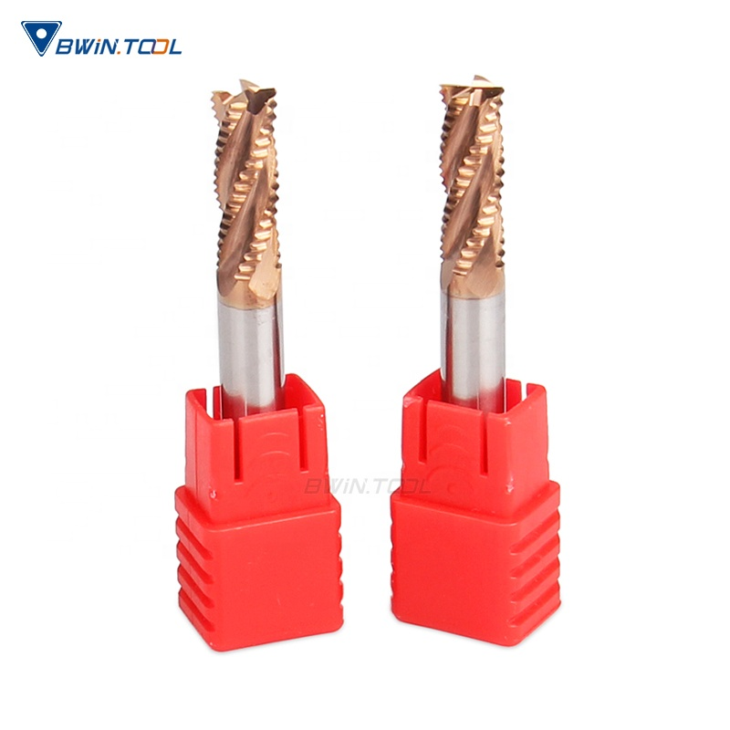 4F CNC Solid Carbide Roughing end mill cutter Cutting Tools