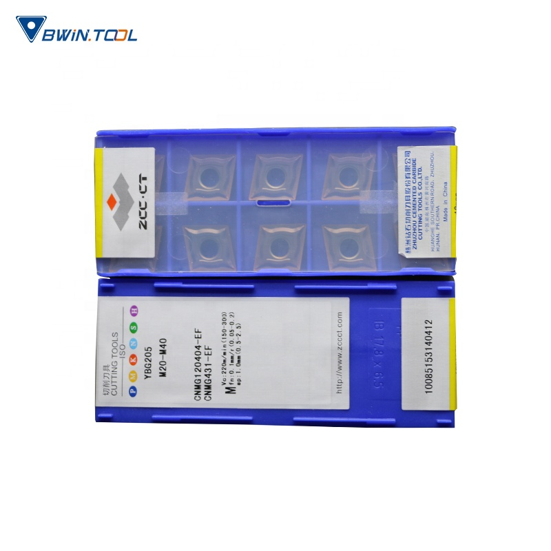 CNMG120404-EF YBG205 Tungsten Carbide inserts Iso tungsten Turning Inserts Cutting Tools