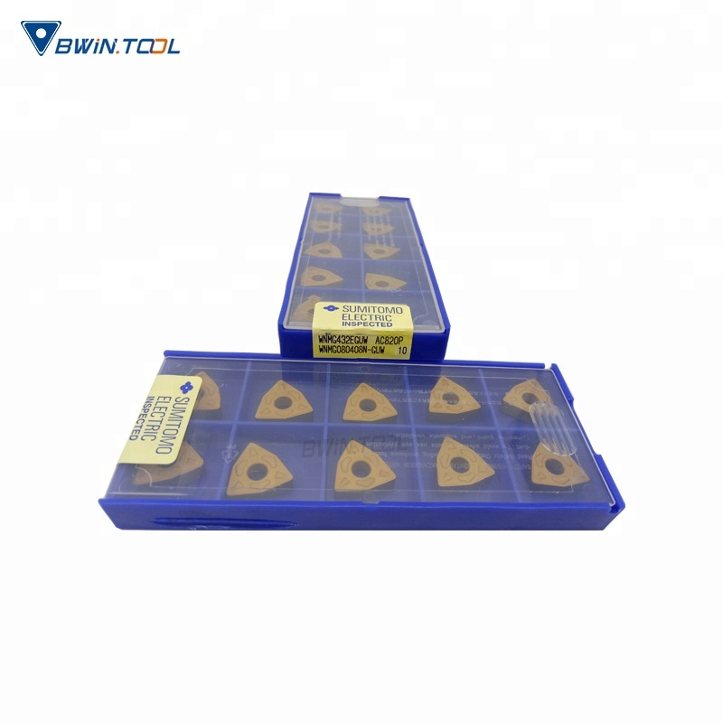 different types of cnc turning tool Sumitomo carbide tipped wnmg080408 inserts