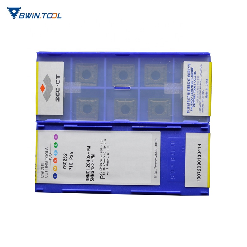 zcc-ct manufacture supply negative/positve tungsten carbide turning inserts SNMG120408-PM YBC252