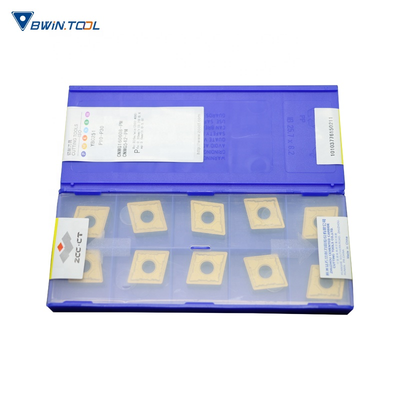 ZCC-CT carbide turning insert CNMG160608-PM YBC251 for light cutting of general steel and stainless steel