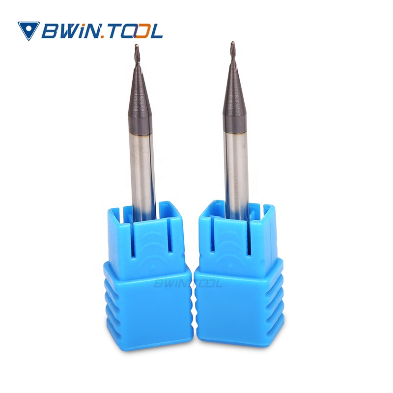 good quality 1mm diameter micro CNC Milling Tools  R0.5x3x50L-2T Ball Nose End Mill