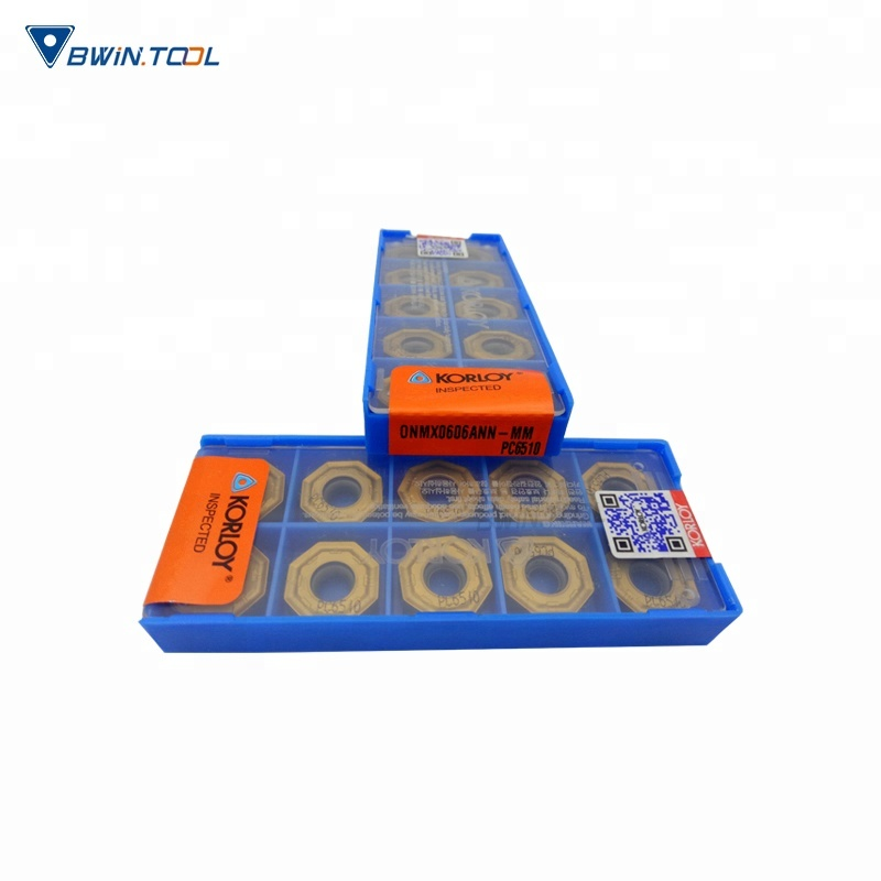 China Tooling Supplier milling cutters for ONMX Original korloy Carbide Milling Inserts