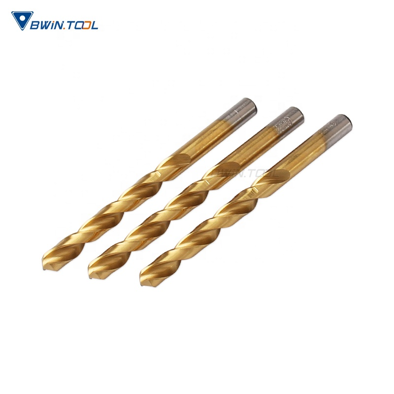 Best sale High quality HSS 6542 coated TIN D9.5 twist drill bits for metal cutting