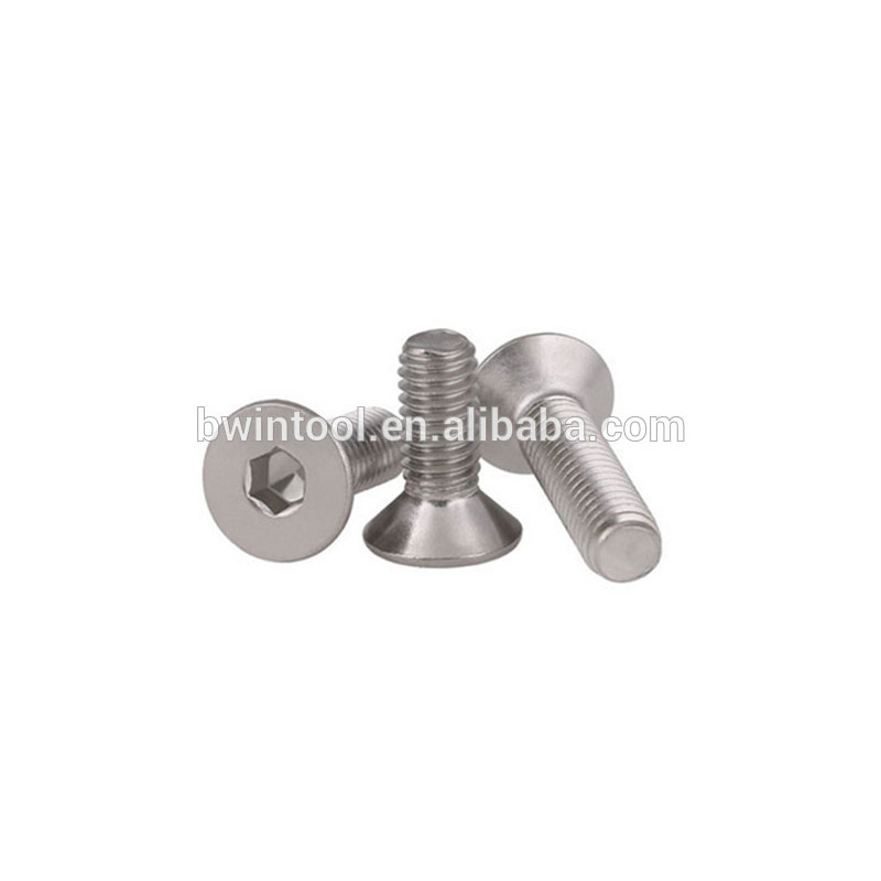 304 stainless steel countersunk / flat head six corners screw